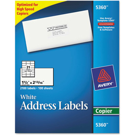 Buy Avery Self-Adhesive Address Labels for Copiers, 1-1/2 x 2-13/16, White, 2100/Box