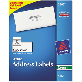 Buy Avery Self-Adhesive Address Labels for Copiers, 1-3/8 x 2-13/16, White, 2400/Box
