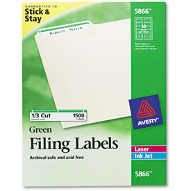 Avery Self-Adhesive Laser/Inkjet File Folder Labels, Green Border, 1500/Box by