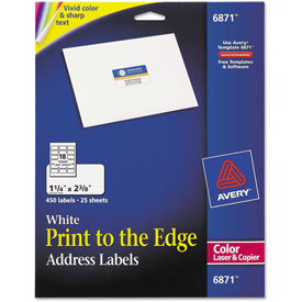 Buy Avery Address Labels for Color Laser & Copier, 1-1/4 x 2-3/8, Matte White, 450/Pack
