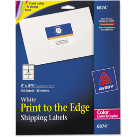 Buy Avery Shipping Labels for Color Laser & Copier, 3 x 3-3/4, Matte White, 150/Pack
