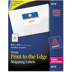 Buy Avery Shipping Labels for Color Laser & Copier, 3-3/4 x 4-3/4, Matte White, 100/Pack