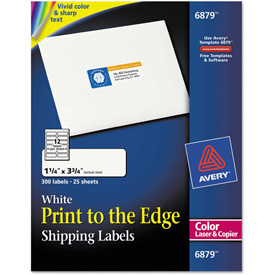 Buy Avery Shipping Labels for Color Laser & Copier, 1-1/4 x 3-3/4, Matte White, 300/Pack