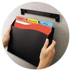 Avery 73515 Cubicle Wall File Pocket, 12 1/2 x 1 3/8 x 9 1/2, Black