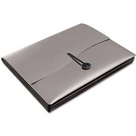 Avery® Slide & View Expanding File, 5 Pockets, Letter, Gray