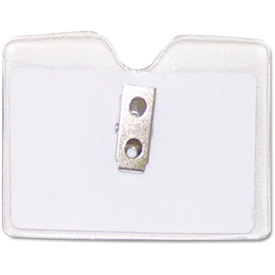 "Advantus Security ID Badge Holder, Horizontal, 3-1/2"" x 2-1/2"", Clear, 50/Box by"