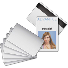 "Advantus Blank PVC ID Badge Card with Magnetic Strip, 2-1/8"" x 3-3/8"", White, 100/PK by"