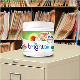 Bright Air Super Odor Eliminator 14 oz. Jar, White Peach & Citrus BRI 900133 by