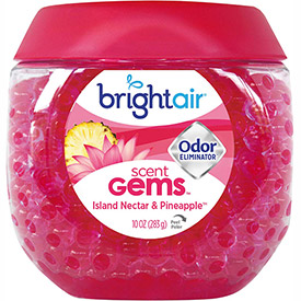 Bright Air Scent Gems Odor Eliminator 10 oz. Jar, Island Nectar & Pineapple 900229 by