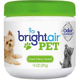 Bright Air Pet Odor Eliminator 14 oz. Jar, Cool Citrus BRI900258EA by