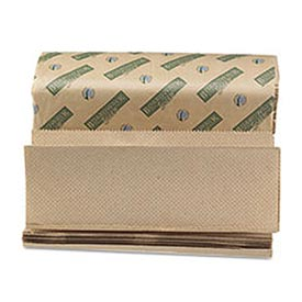 Green Folded Paper Towels, Multi-Fold, Natural, 9-1/8W x 9-1/2L, 4000/Carton - BWK13GREEN