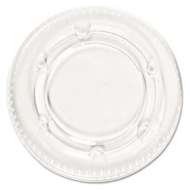 Boardwalk® BWK YLS-2FR - Portion Cup Lids, Fits 1.5-2.5 Oz. Cups, Clear, 100/Sleeve