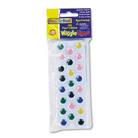Creativity Street 3438-01 Peel 'N Stick Wiggle Eyes, Assorted Sizes, Assorted Colors, 125/Pack
