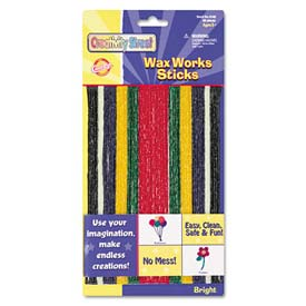 Creativity Street 4170 Wax Works Strips, Bright Hues Colors, 48 Pieces