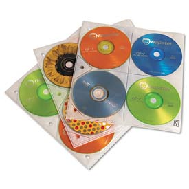 Buy Case Logic CDP200 Two-Sided CD Storage Sleeves for Ring Binder, 25/Pack