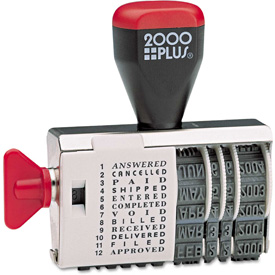 2000 PLUS Dial-N-Stamp, 12 Phrases, 1 1/2 x 1/8 by