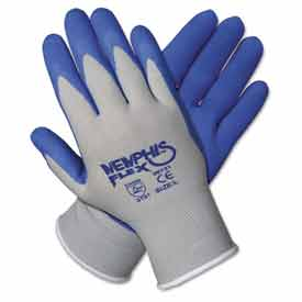 Memphis 96731XL Memphis Flex Seamless Nylon Knit Gloves, Extra Large, Blue/Gray, 1 Pair