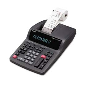 Click here to buy Casio FR-2650TM Two-Color Printing Desktop Calculator, 12-Digit Digitron, Black/Red.
