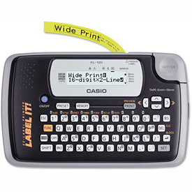 Buy Casio KL-120 Label Maker, 1 Lines, Black & Gray