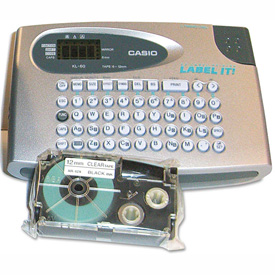 Buy Casio KL60SR Compact EZ-Label Maker, 2 Lines, Silver