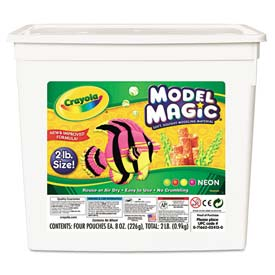 Crayola 232413 Model Magic Modeling Compound, 8 oz each/Neon, 2 lbs