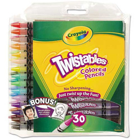 Crayola Twistables Colored Pencils, 30 Assorted Colors/Pack by