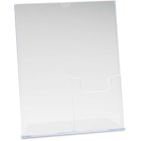 "deflect-o 590501 Superior Image Sign Holder w/Pocket, 8-1/2""W x 11""H, Clear"