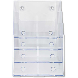 "deflect-o 77441 Multi Compartment DocuHolder, 4 Compartments, 9-1/4""W x 7""D x 13-1/2""H, Clear"