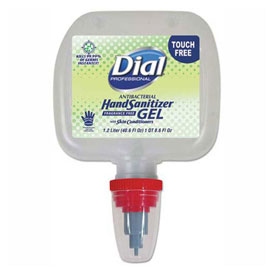 Dial Professional Duo Touch-Free Gel Hand Sanitizer Refill, 1.2 L, 3/Case 17000134130 by