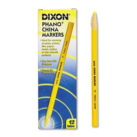 Dixon 73 China Marker, Yellow, Dozen by