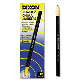 Dixon 77 China Marker, Black, Dozen by