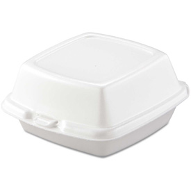 """Hinged Lid Foam Food Containers 5-7/8"""" x 6"""" x 3"""" 400 Pack by"""