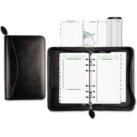 Day-Timer Recycled Bonded Leather Starter Set, 3 3/4 x 6 3/4, White by