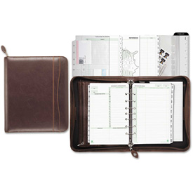 Day-Timer Sienna Simulated Leather Starter Set, 5 1/2 x 8 1/2, White by