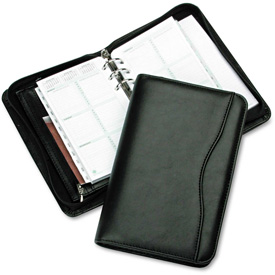 Day-Timer Avalon Simulated Leather Starter Set, 3 3/4 x 6 3/4, Black by
