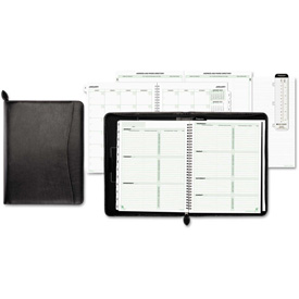 Day-Timer Basque Bonded Leather Organizer, 8 1/2 x 11, Black by