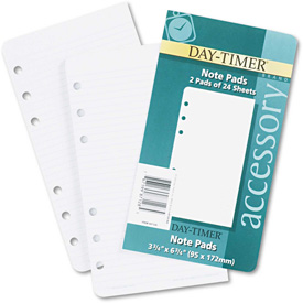 Day-Timer Lined Note Pads for Organizer, 3 3/4 x 6 3/4 by