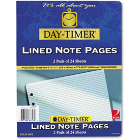 Day-Timer Lined Pages, 8 1/2 x 11 by