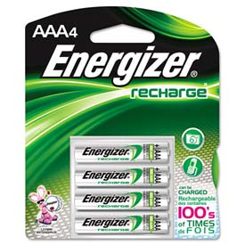 Energizer® AAA e² NiMH Rechargeable Batteries 4 per Pack