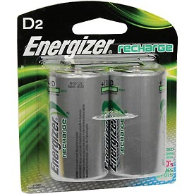 Energizer® D e² NiMH Rechargeable Batteries 2 per Pack