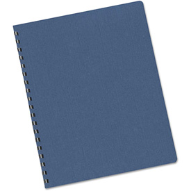 Fellowes Linen Texture Binding System Covers, 11-1/4 x 8-3/4, Navy, 50/Pack by