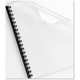 Fellowes Futura Binding System Covers, Round Corners, 11 1/4 x 8 3/4, Frost Lined, 25/PK by