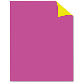 """Buy Royal Brites Two Cool Poster Board, 22"""" x 28"""", Fluorescent Pink/Canary, 25/PK"""