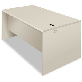 60 Inch Desk Shell in Light Gray - HON Modular Steel Furniture