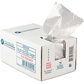 """Reclosable Food Bags 8"""" x 4"""" x 2"""" 0.68 Mil - 1000 Pack"""