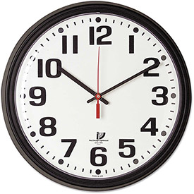 "Buy Chicago Lighthouse Bold Quartz Contract Clock, 13-3/4"", Black"