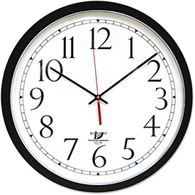 "Buy Chicago Lighthouse SelfSet Wall Clock, 14-1/2"", Black"