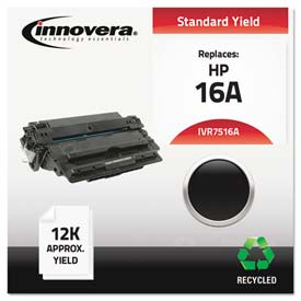 Buy Innovera 7516A Compatible, Remanufactured, Q7516A (16A) Laser Toner, 12000 Yield, Black