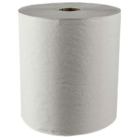 Scott® 100% Recycled Fiber Hard Roll Towels, White, 8 x 800', 12 Rolls/Case - KIM01052