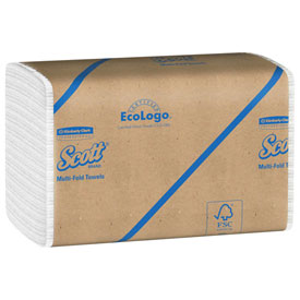Scott® Multifold Paper Towels, 9-1/4 x 9-1/2, White, 250/Pack, 16 Packs/Case - KIM01804